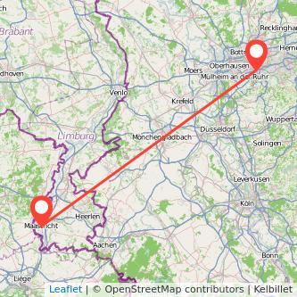 Maastricht Essen Bus Karte