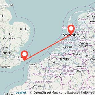 Amsterdam Dover train map