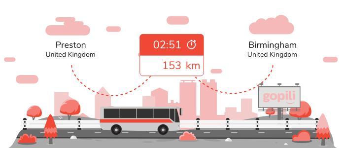 Bus Preston Birmingham