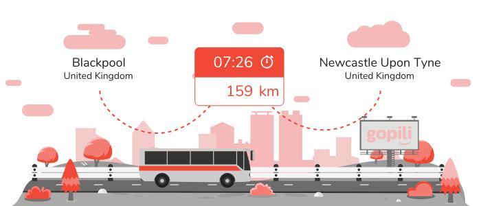 Bus Blackpool Newcastle upon Tyne