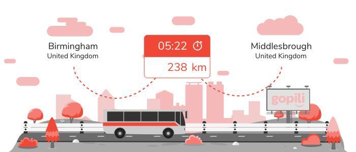 Bus Birmingham Middlesbrough