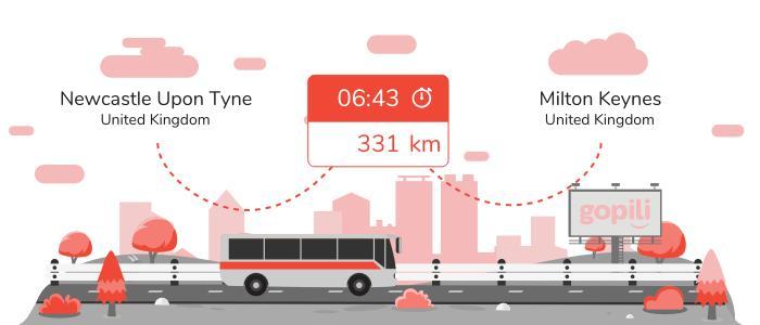 Bus Newcastle upon Tyne Milton Keynes