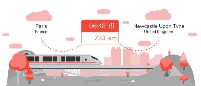 Paris Newcastle upon Tyne train