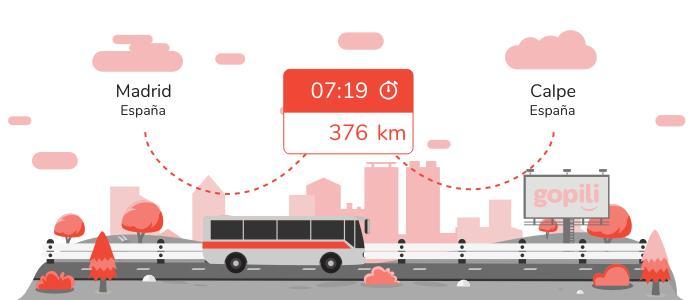 Autobuses Madrid Calpe